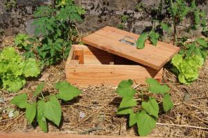 lombricomposteur en bois, à enterrer