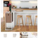 un meuble lombricomposteur dans une cuisine