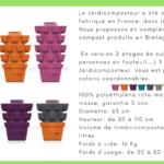 les différentes couleurs du Jardicomposteur